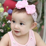 Nicerocker Love Baby Girls Kids Headband Bow Lace Headband Flower Headwear
