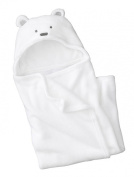 Zenness Multifunction Cute Bear Infant Wrap Soft Baby Bath Towel White