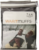 7 A.M. Enfant Stroller Hand Warmers for Parents and Caregivers, Black/Grey