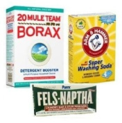 Laundry Soap Kit For DIY Powder Laundry Detergent; 4 Fels Naptha, Borax & Washing Soda