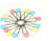 Colourful Multipurpose Safely Pins Baby Child Infant Kids Stainless & Rustproof Nappy Pins with Large Safety Pin Brooch 20 Psc