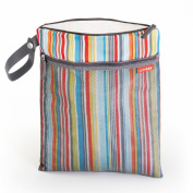 Skip Hop Grab & Go Wet/Dry Nappy Bag, MetroStripe