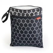 Skip Hop Grab & Go Wet/Dry Nappy Bag, Onyx Tile