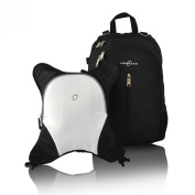Obersee Rio Nappy Bag Backpack with Detachable Cooler, Black/White