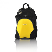 Obersee Rio Nappy Bag Backpack with Detachable Cooler, Black/Yellow