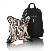 Obersee Rio Nappy Bag Backpack with Detachable Cooler, Black/Camo