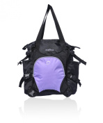 Obersee Innsbruck Nappy Tote with Detachable Cooler, Black/Purple