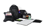 Obersee Oslo Nappy Bag Backpack with Detachable Cooler, Black/Camo