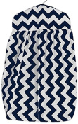 Baby Doll Chevron Nappy Stacker, Navy