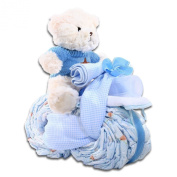 The Gifting Group Motorcycle Nappy Cake, Blue
