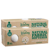 Woolzies- Wool Dryer Balls, Natural Fabric Softener, 2 Pack