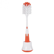 OXO Tot Bottle Brush with Nipple Cleaner and Stand, Orange