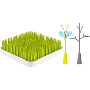 Boon Grass and Stem and Twig, Green + Blue/Orange + Grey