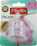 Playtex Drop-Ins NaturaLatch Silicone Nipple - Fast Flow - 6 Pack