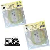 4 Tubing for Medela Pump in Style Advanced Breast Pump Release After Jul 2006. In Retail Pack. Replace Medela Tubing #8007212, 8007156 & 87212. BPA Free. Made By Maymom (Two Packs