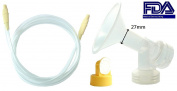 Swing Tubing and Pump Kit (Breastshield Large, 27mm) for Medela Swing Breastpump. Includes 1 Swing Tubing, 1 One-Piece Breastshield (Replace Medela Personalfit 21mm and Personalfit Connector), 1 Valve, 1 Membrane, and 1 Swing tubing. Replace Medela Sma ..