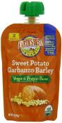 Earth's Best Organic Veggie & Protein Puree Baby Food, Sweet Potato Garbanzo Barley, 100ml
