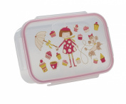 SugarBooger Good Lunch Box Divided Lunch Container, Cupcake