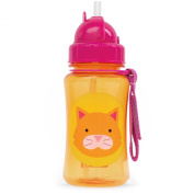 Skip Hop Zoo Straw Bottle, Orange Cat, 350ml
