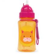Skip Hop Zoo Straw Bottle, Orange Cat, 350ml