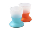 BABYBJORN Cup, Turquoise/Orange, 2-Count