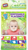 Biodegradable Disposable Placemats 24 Count (4 placemats per package) - by Mighty Clean Baby