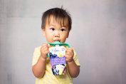 PouchBuddy (1-Turquoise) - Baby Self Feeding Works with Most Baby Food Pouches Including but Not Limited to Plum, Happy Tot, Happy Baby, Earth's Best, Gerber, Other National Brands As Well As Reusable