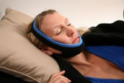 SnoreShield(TM) Stop Snoring Anti Snoring Jaw Strap - New Comfort Fit with Innovative Adjustablehook and loopto Fit any Size Head! #1 Ranked Device on the Market.