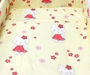 """Blueberry Shop Baby Toddler Cot Bed Bundle Duvet & Pillow Covers 47""""X59"""" 120Cmx150Cm Cream Kitty"""