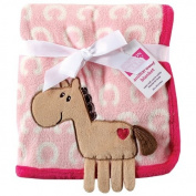 Hudson Baby Coral Fleece 3D Animal Blanket, Pink