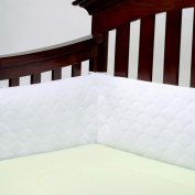 Lifenest Breathable Padded Mesh Crib Bumper -White