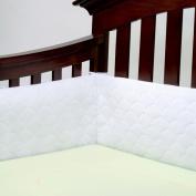 Lifenest Breathable Padded Mesh Crib Bumper -White