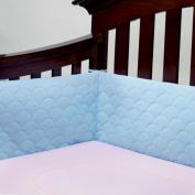 Lifenest Breathable Padded Mesh Crib Bumper -Blue