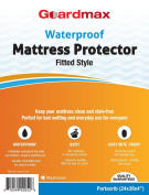 Guardmax - Waterproof Mattress Protector Cover - Fitted Style - Quiet! - Crib Sizes