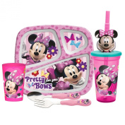 Zak Designs 5-Piece Minnie Mouse Mealtime Serveware Set