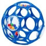 Rhino Toys Oball 4 81042 Activity Ball with Rattling Parts Colour D Blue