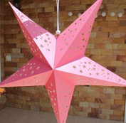 Large Baby Girl Pink Hanging Star Lantern Without Lights
