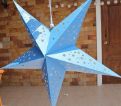 Large Baby Boy Blue Hanging Star Lantern Without Lights