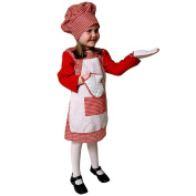 Dress up America Gingham Chef Costume Set (L), Red