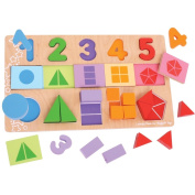 Bigjigs Toys BJ459 My First Fractions Puzzle