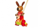 Wooden Kangaroo (with a Joey) Push a long Toy for Toddlers