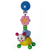 Hess Wooden Baby Toy Figurine Chain Bee Sina Clip On