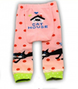 BABY TODDLER INFANT LEGGINGS TIGHTS PANTS UNISEX WITH ADORABLE ANIMAL DESIGN CAT HOUSE SMALL