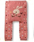 BABY TODDLER INFANT LEGGINGS TIGHTS PANTS UNISEX WITH ADORABLE ANIMAL DESIGN MUSICAL BUNNY HEART LARGE