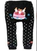 BABY TODDLER INFANT LEGGINGS TIGHTS PANTS UNISEX WITH ADORABLE ANIMAL DESIGN SWEETS MEDIUM