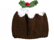 Xmas Pudding Hat Hand knitted beanie Baby Child Adult Handmade