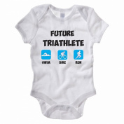 FUTURE TRIATHLETE - Triathlon / Swim / Bike / Run / Sport Themed Baby Grow / Vest