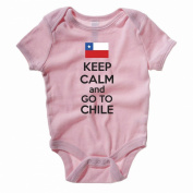 KEEP CALM AND GO TO CHILE - Chilean / South America Themed Baby Grow / Suit