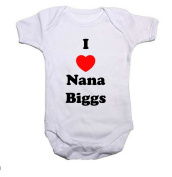 I LOVE NANA Boys/Girls Baby Grow/Vest Baby Shower Gift