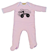 Truck Baby Grow Pink 3-6 mos